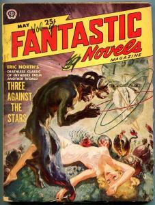 Fantastic Novels Pulp May 1950- Norman Saunders- Eric North VG