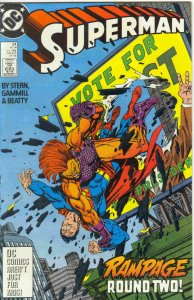 SUPERMAN #24, VF/NM, Rampage, Stern, Gammill, Beaty, 1987 1988, more in store