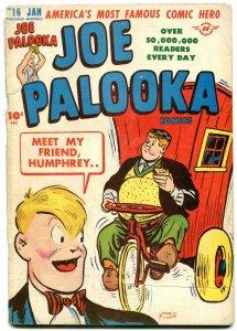 JOE PALOOKA #16 1948-HARVEY -HUMPHREY COVER-BLACK CAT VG