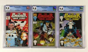 Punisher War Zone 1 2 3 All Cgc 9.8 White Pages Marvel