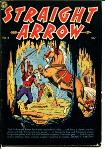 Straight Arrow #4 1950-ME-Fred Meagher-cave-Indian stories-FN+