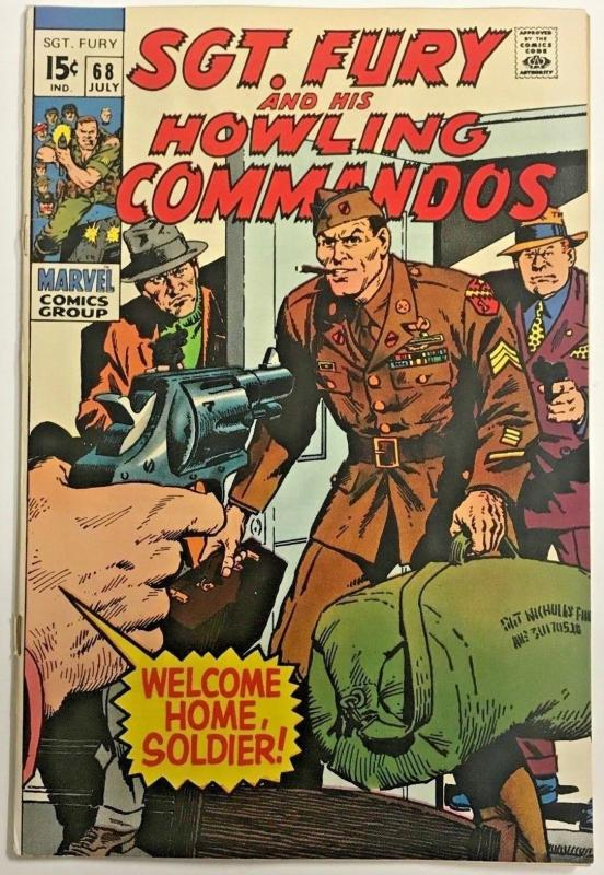 SGT. FURY#68 VG/FN 1969 MARVEL SILVER AGE COMICS