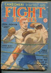 Fight Stories 4/1932-Fiction House-boxing pulp-Tony Canzoneri-rare pulp-VG MINUS
