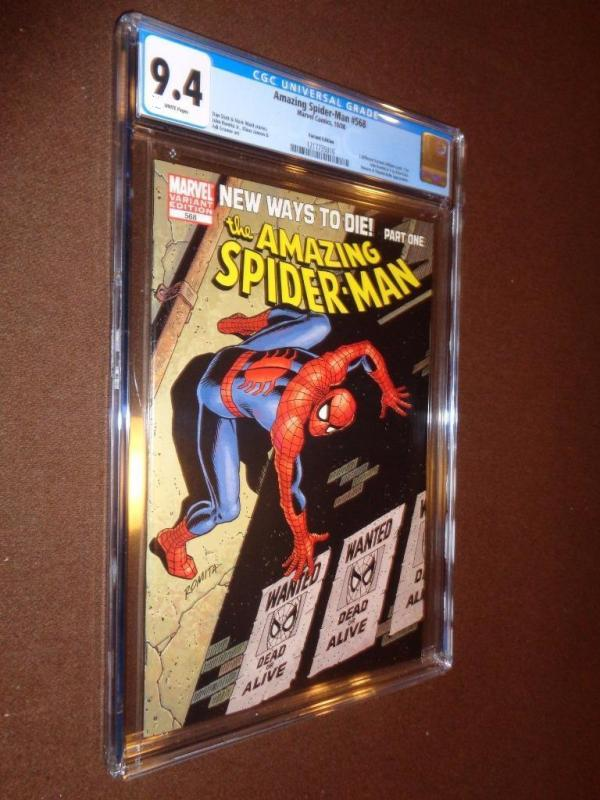 Amazing Spider-man #568 Romita Variant CGC 9.4 New Ways To Die (PGX) (CBCS)