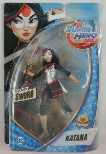 Katana Action Figure - DC Super Hero Girls - ON CARD - 2016 Mattel suicide squad