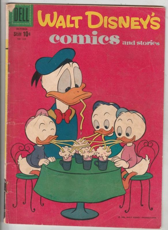 Comics and Stories, Walt Disney's #229 (Oct-59) VG/FN Mid-Grade Donald Duck, ...