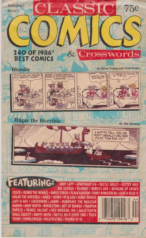 Trader Publishing CLASSIC COMICS AND CROSSWORDS #1 VG