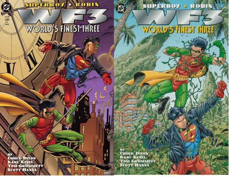 SUPERBOY ROBIN WORLDS FINEST THREE (1996) 1-2  COMPLETE