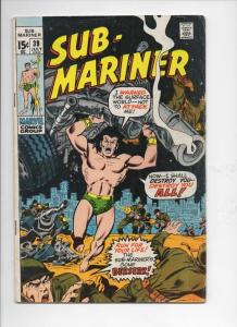 SUB-MARINER #39, VG+, Ross Andru, Marvel, 1968 1971, more in store