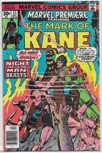 Marvel Premiere   #33 FN Mark of Kane