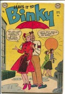 Leave It To Binky #38 1954-DC-headlight cover-teen humor-G/VG