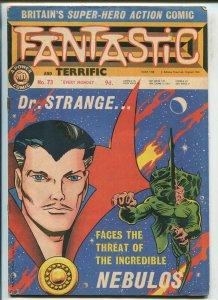 FANTASTIC #73 1968-MARVEL UK-DR STRANGE-THOR-AVENGERS-X-MEN-vg