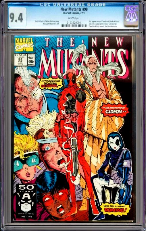 New Mutants #98 CGC Graded 9.4 1st App of Deadpool, Gideon & Domino