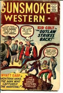 Gunsmoke Western #56 1960-Marvel-Jack Kirby-Dick Ayers-Kif Colt-Wyatt Earp-FR/G