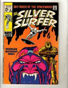 Silver Surfer # 6 VF- Marvel Comic Book Avengers Fantastic Four Galactus GK1