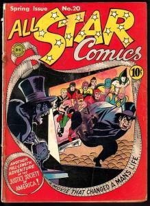 All Star Comics #20 1944-JSA- Doctor Fate & Sandman cameo G-