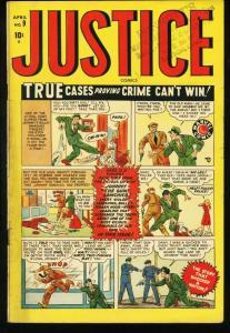 JUSTICE #9-1948-PRE-CODE CRIME-MARVEL VG