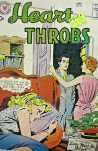Heart Throbs #57 DC Comic Silver Age 1958 VG+