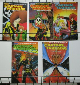 Captain Harlock (Eternity 1988) #1-5 Leiji Matsumoto's Anime Pirate Warrior!