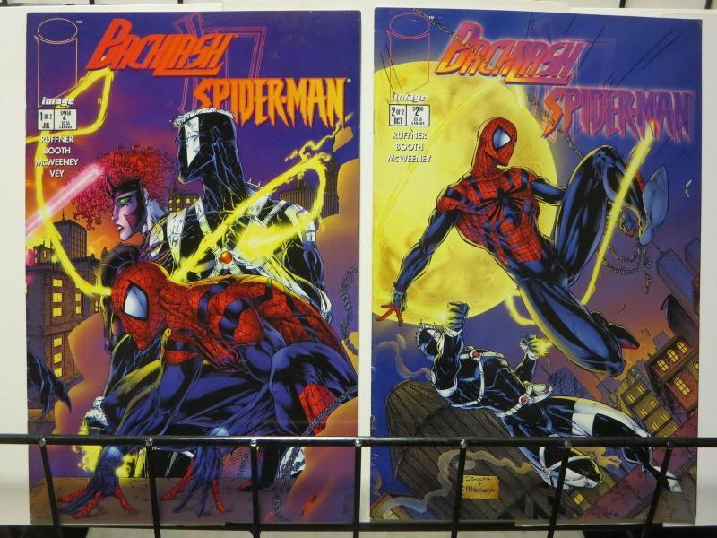 BACKLASH SPIDERMAN (1996 IM) 1-2  COMPLETE!