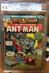 Marvel Feature 9 Cgc 9.8 Highest Graded 1/3 On Census!