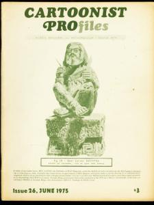 CARTOONIST PROFILES #26-1975-BILL GAINES-NORMAN MINGO FN