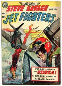 Captain Steve Savage #2 1951-AVON GOLDEN AGE-Everett Raymond Kinstler cover G