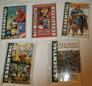 Lot of 5 TPBs: Essential Marvel Avengers #1-5 (Amazing) Lee Kirby Busema 2 3 4