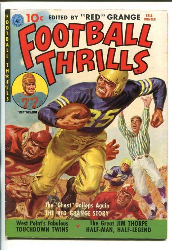 FOOTBALL THRILLS #1-1951RED GRANGE-JIM THORPE--SOUTHERN STATES PEDIGREE-fn