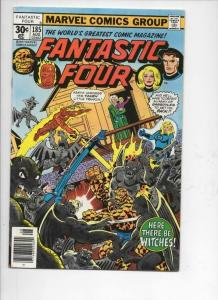 FANTASTIC FOUR #185, VF+, Witches, Perez, 1961 1977, more FF in store