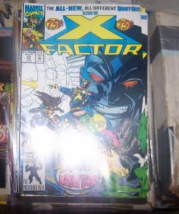 X-Factor #75 (Feb 1992, Marvel  MR SINISTER +NASTY BOYS  HAVOC POLARIS GUIDO