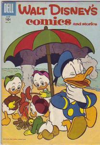 Comics and Stories, Walt Disney's #201 (Jun-57) VG/FN Mid-Grade Donald Duck, ...