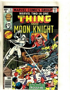 Marvel Two-In-One # 52 VF Comic Book Moon Knight Thing Avengers Defenders HJ9
