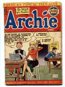 ARCHIE COMICS #41 comic book 1949-BETTY & VERONICA-BOB MONTANA ART G