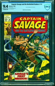 Captain Savage and His Battlefield Raiders #14 CBCS NM 9.4 Off White to White