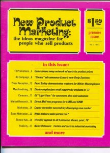New Product Marketing #1 1977-1st issue-TV game shows-Disney licensed charact...