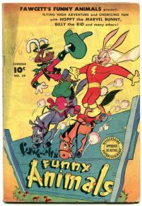 Fawcett's Funny Animals #59 1948-Hoppy The Marvel Bunny-Golden Age VG