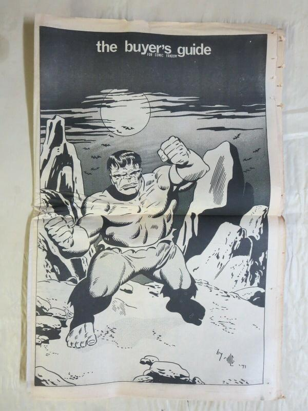 BUYERS GUIDE #7 Hulk cvr, Sept 1971 Classics launch ads