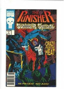 Punisher Summer Special #1 VF+ 8.5 Newsstand Marvel Comics 1991