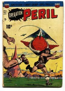 Operation Peril #8 Science-fiction 1951 Obscure golden age comic FR