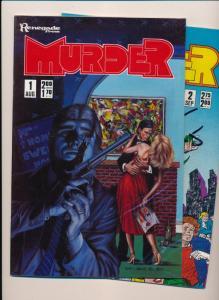 Renegade Press MURDER  #1-2 ~ VF/NM 1986 (HX733)