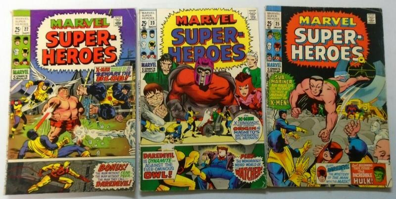 Early 3 Different X-Men, Average 4.0 (1969+1970)