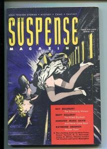 SUSPENSE MAGAZINE-WINTER-1952-VF-HARDBOILED CRIME-RAY BRADBURY-BRETT HALLIDAY VF