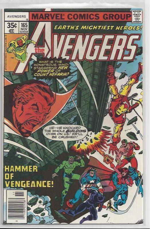 Avengers Issue #165 Autographed Old School Style by John Byrne