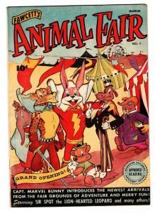 ANIMAL FAIR #1 1946-FAWCETT FUNNY ANIMAL-Hi-grade First issue