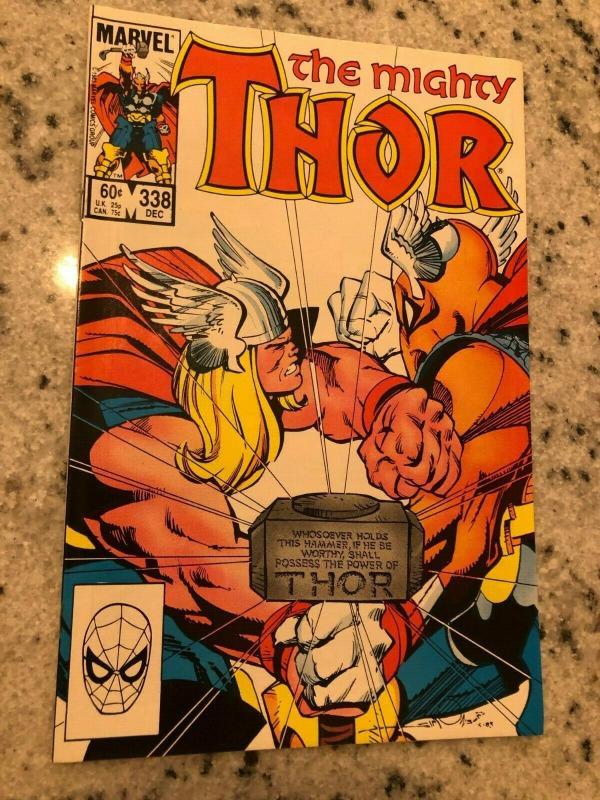 Mighty Thor # 338 NM Marvel Comic Book Beta Ray Bill Avengers Loki Hulk Odin GK4