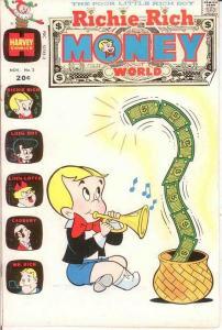 RICHIE RICH MONEY WORLD (1972-1982) 2 F-VF Nov. 1972 COMICS BOOK