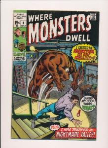Marvel WHERE MONSTERS DWELL #4 Monster in my cellar  VG/F (SRU715)