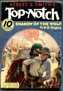 Top-Notch 3/1933-adventure pulp-Shadow of The Wolf-VG