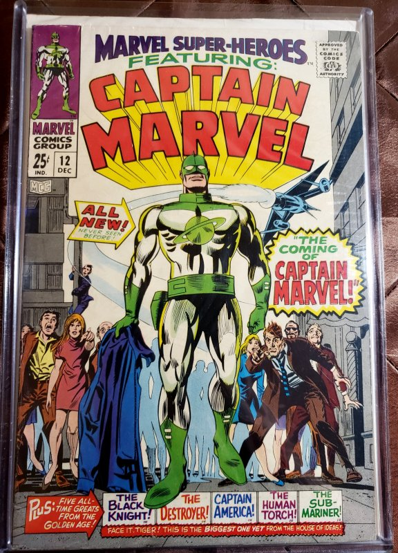 MARVEL SUPER-HEROES 12 - FIRST CAPTAIN MAR-VELL NM-